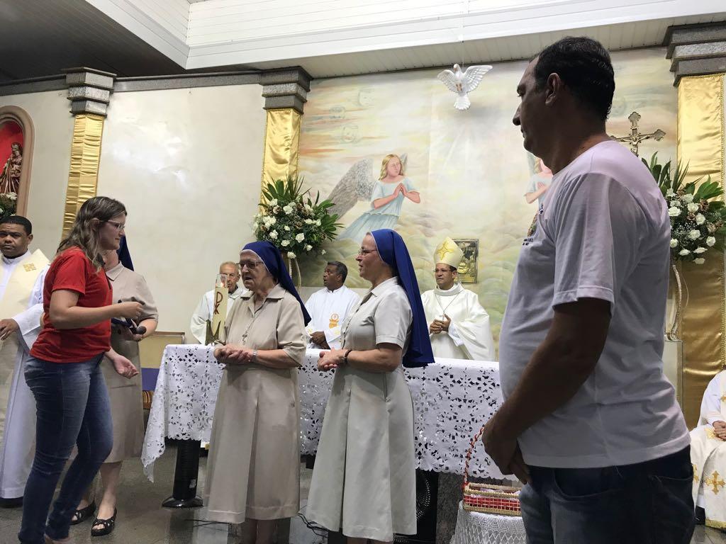 Missa de Ação de Graças pelos 100 anos de trabalho das Pequenas Irmãs da Divina Providência, na cidade de Ubá