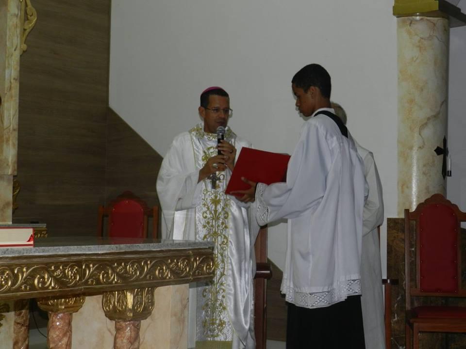 """Missa solene """" Dedicação a Igreja Senhor Bom Jesus dos Aflitos e Meditação das Dores de Maria."""