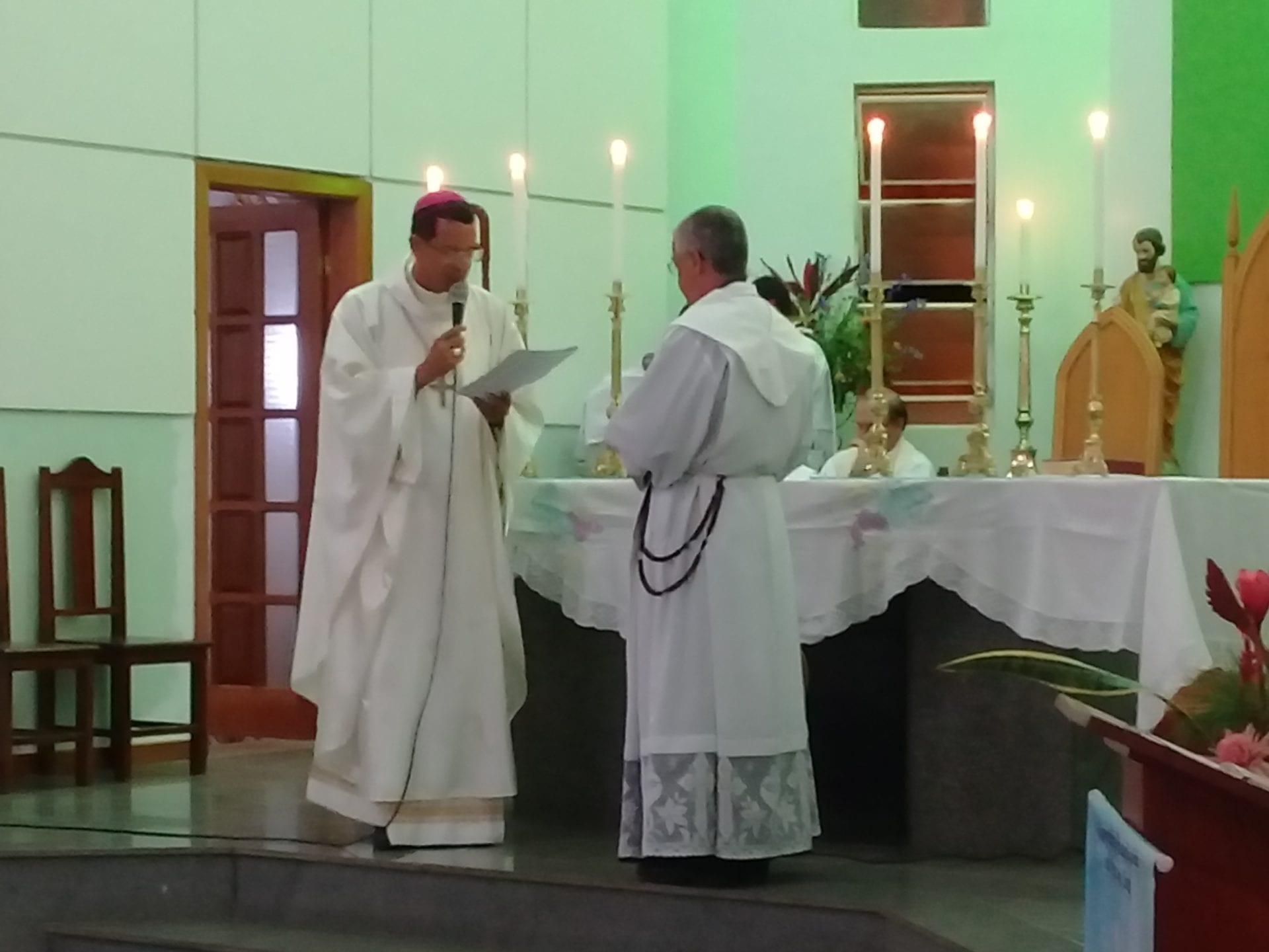 Acolhida do Padre José Carlos, na Paróquia Nossa Senhora do Patrocínio