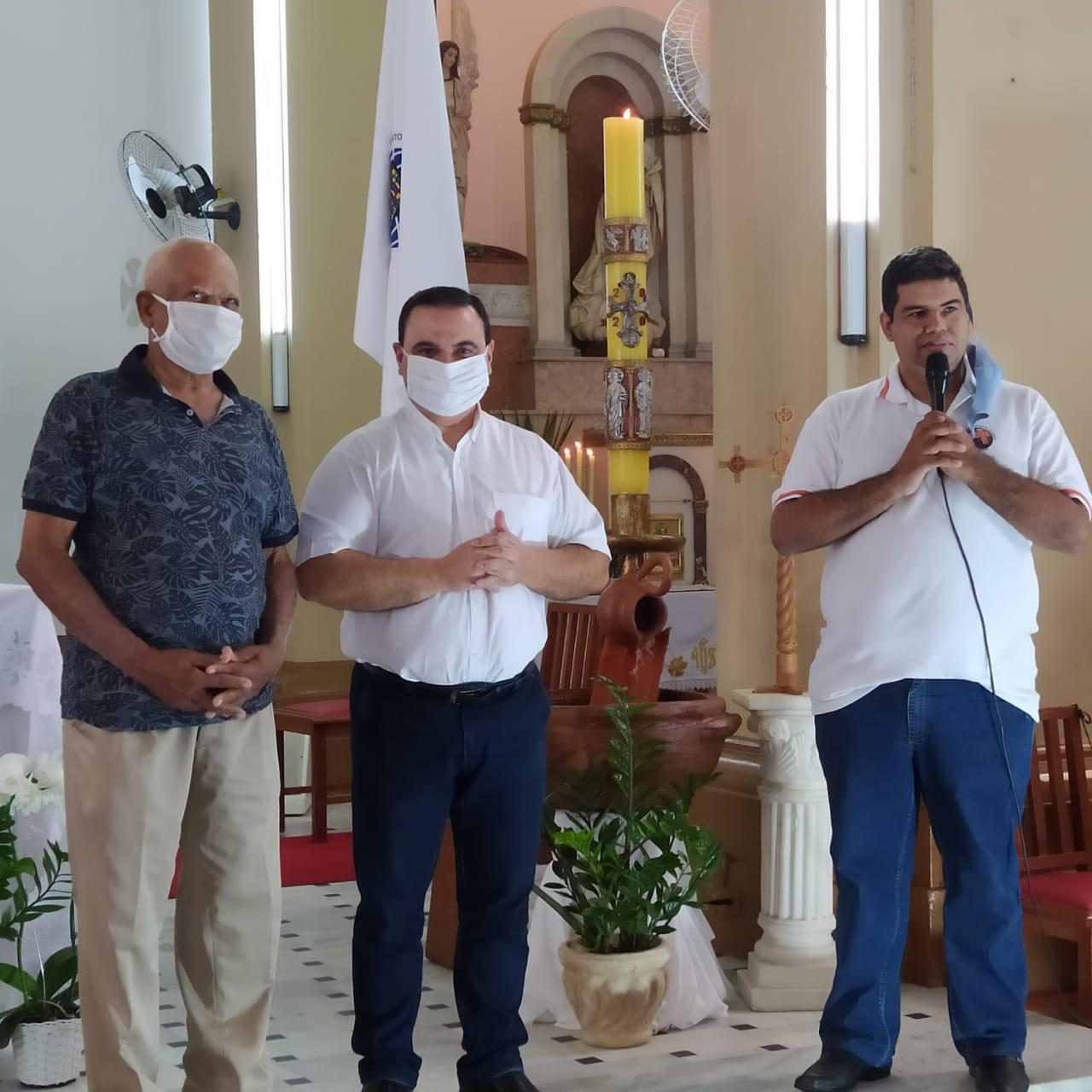 Sr. João, Pe. Flávio e Paulo Marcos