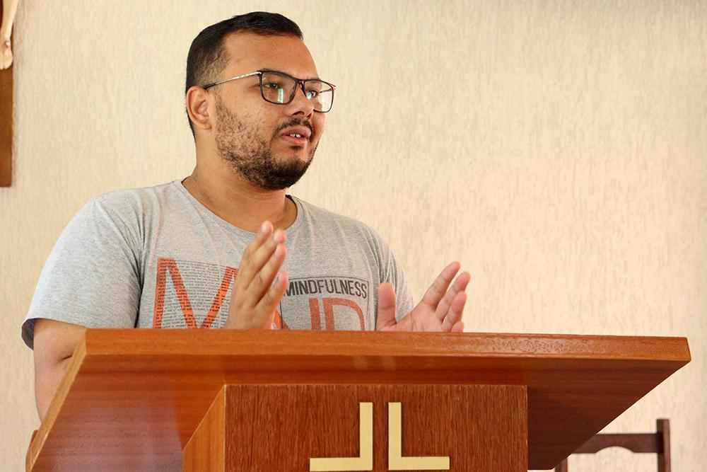 O Seminarista Matheus Leonardo Barbosa Caetano