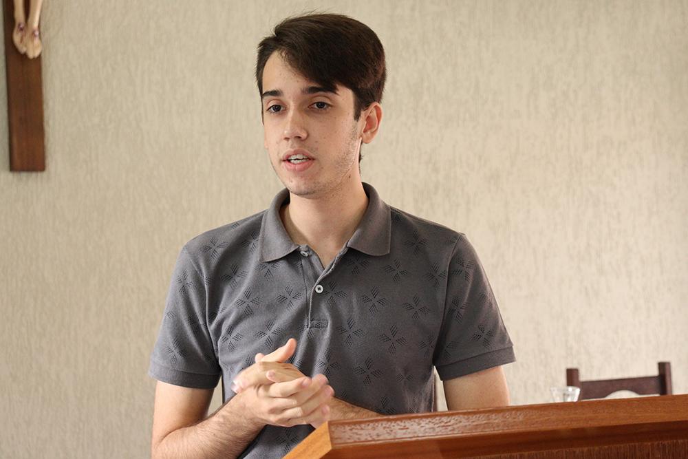 O seminarista Paulo Victor Pires de Andrade.