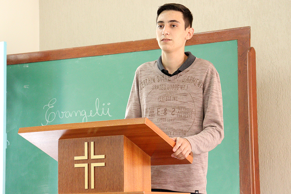 O seminarista João Carlos Batista Cancela