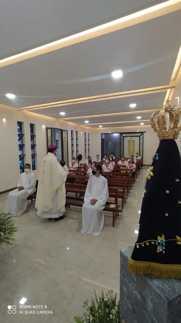 Bispo celebra missa com as lideranças do Apostolado da Oração no Seminário Diocesano