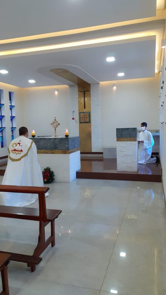 Seminário Diocesano Nossa Senhora Aparecida promove tarde vocacional com os acólitos de Leopoldina.